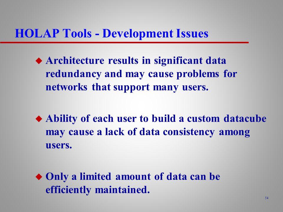 HOLAP Tools - Development Issues