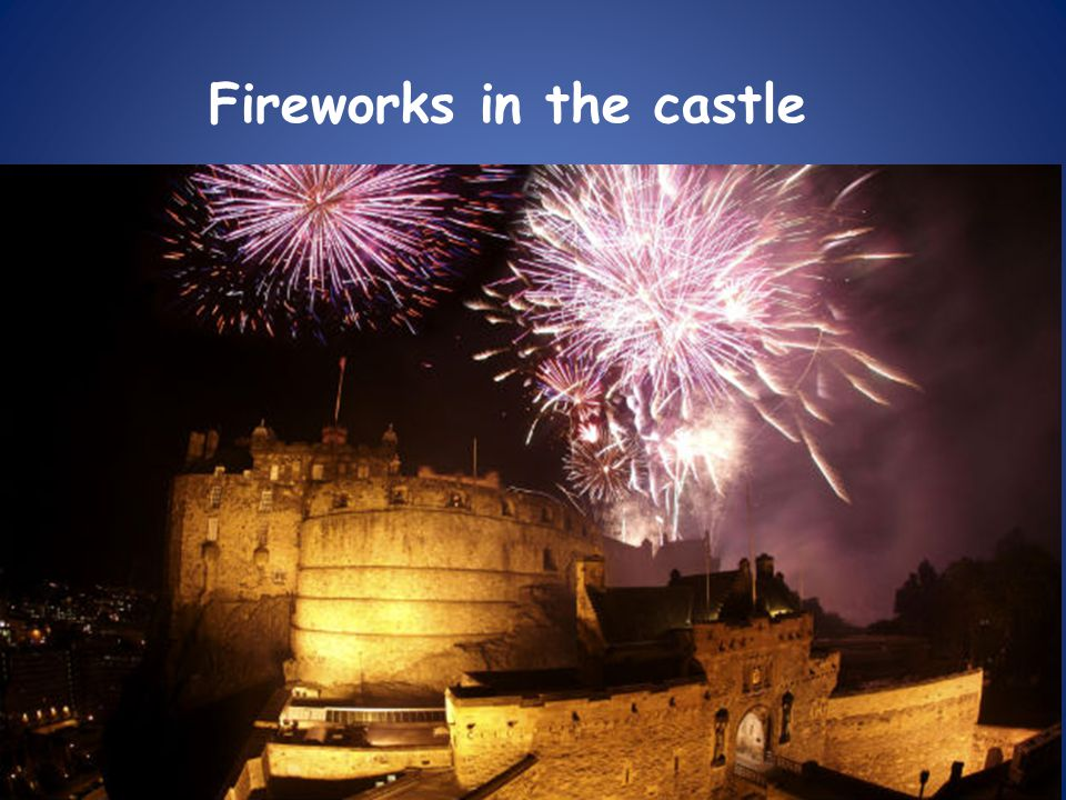 Fireworks in the castle