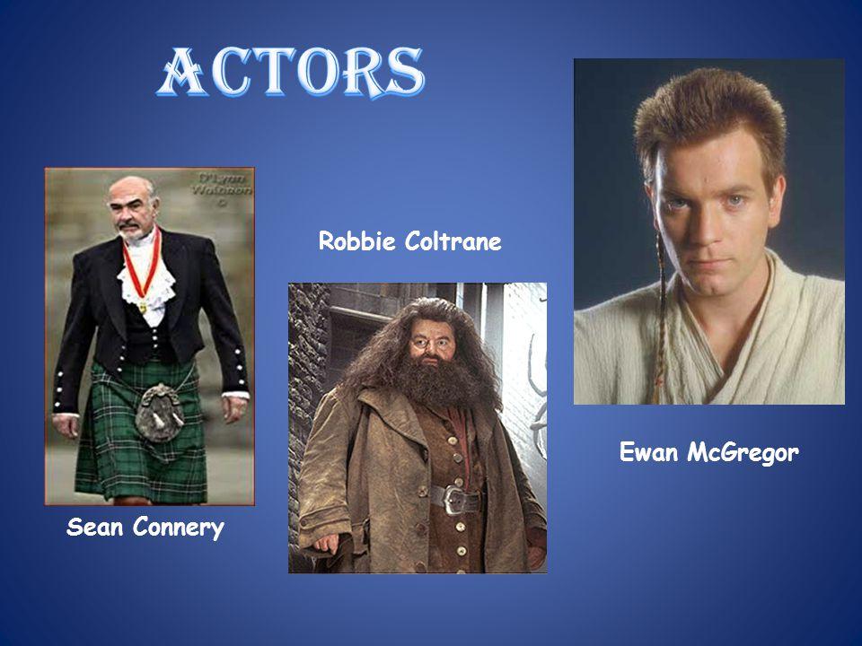 actors Robbie Coltrane Ewan McGregor Sean Connery