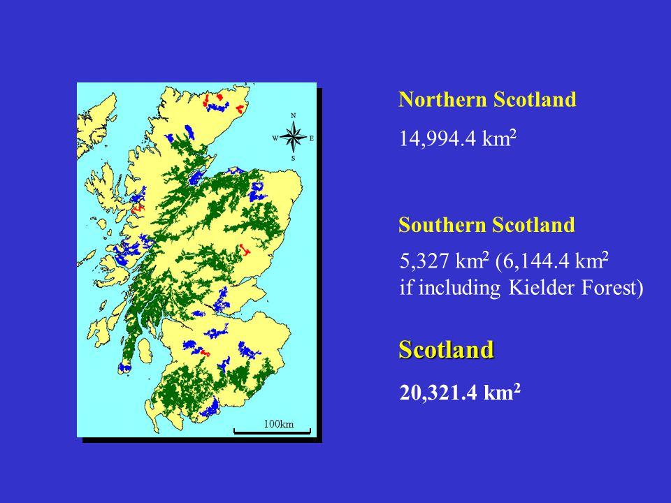 Scotland Northern Scotland 14,994.4 km2 Southern Scotland
