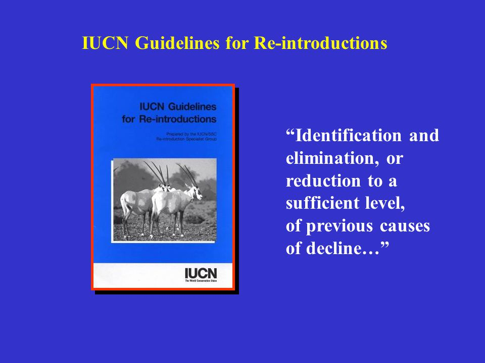 IUCN Guidelines for Re-introductions