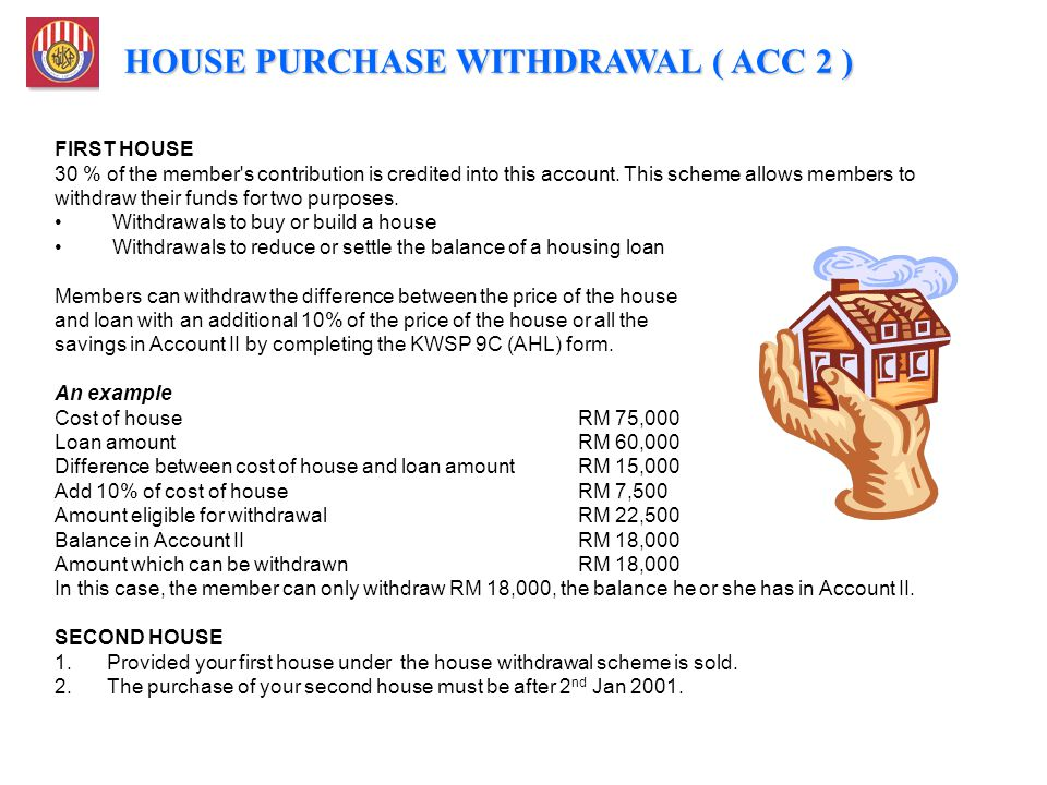 HOUSE PURCHASE WITHDRAWAL ( ACC 2 )