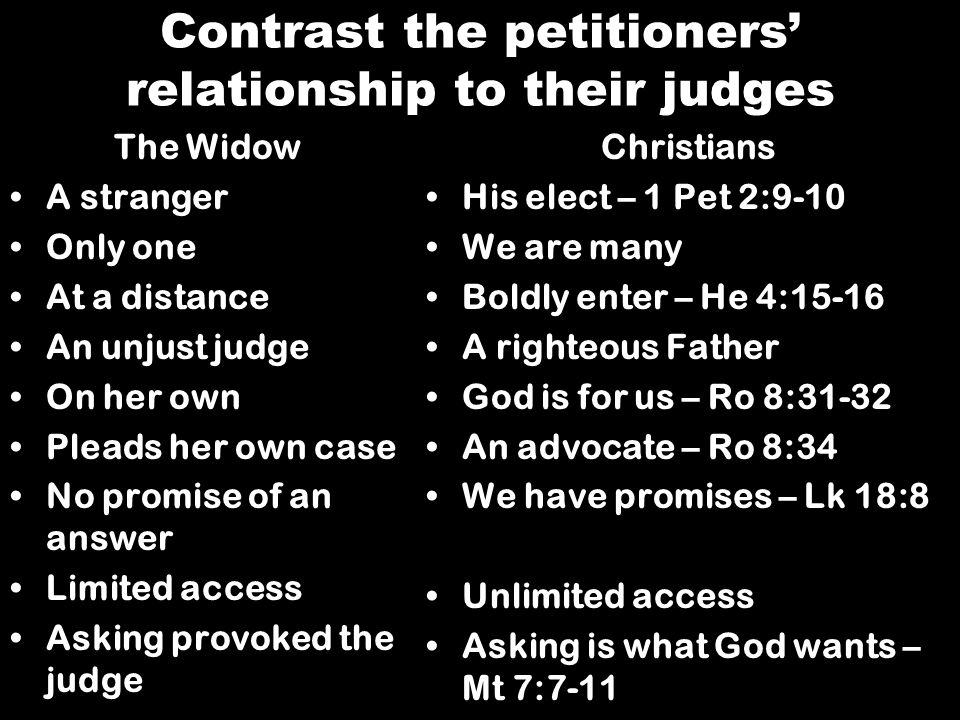 Contrast the petitioners' relationship to their judges