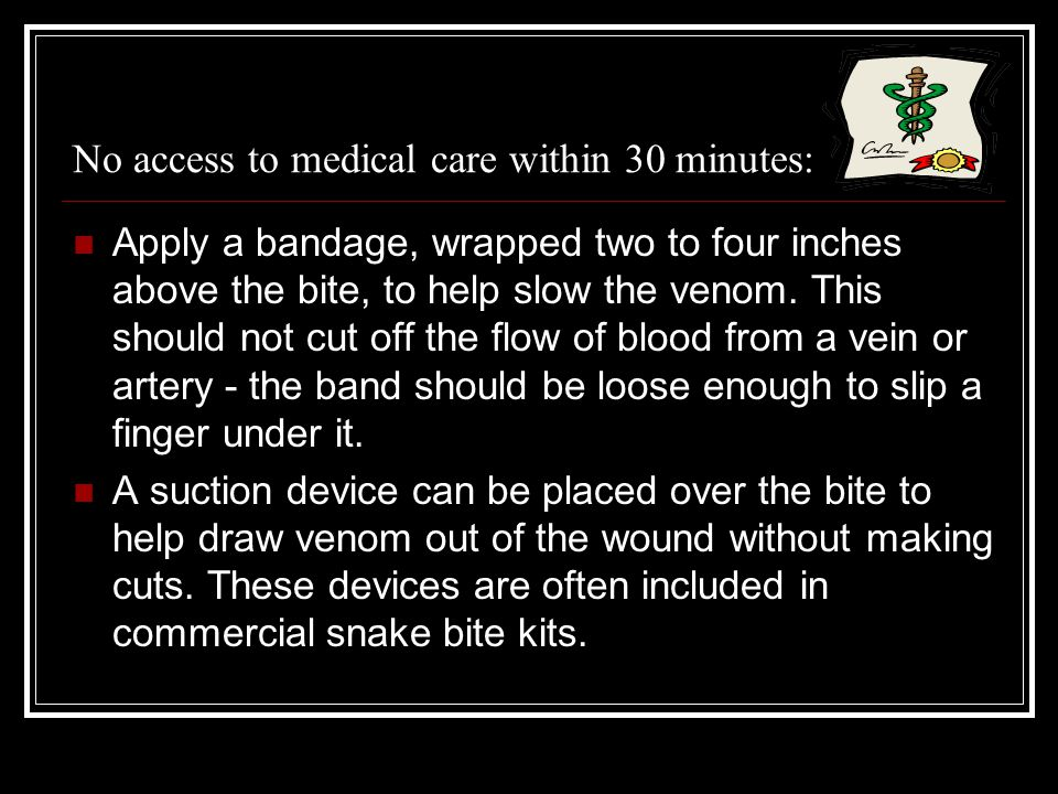 No access to medical care within 30 minutes:
