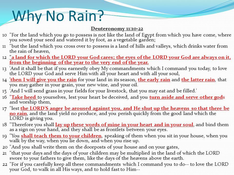 Why No Rain