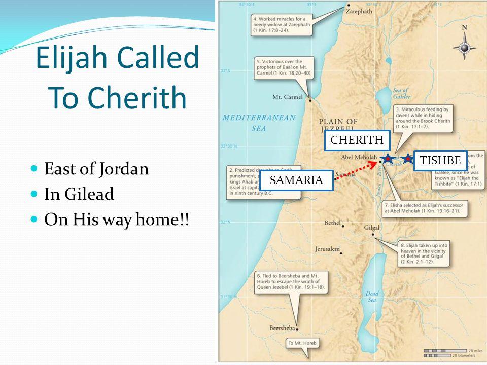 Elijah Called To Cherith