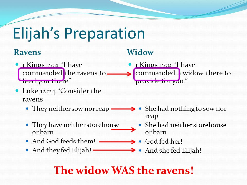 The widow WAS the ravens!