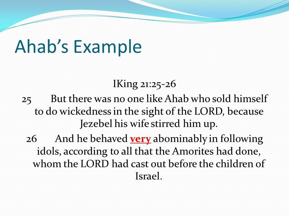 Ahab's Example