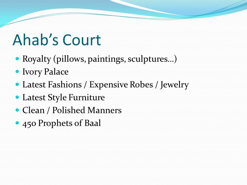 Ahab's Court Royalty (pillows, paintings, sculptures…) Ivory Palace