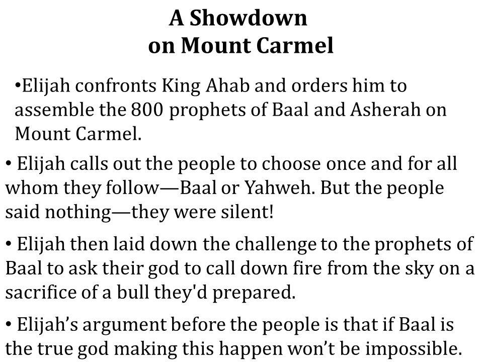 A Showdown on Mount Carmel