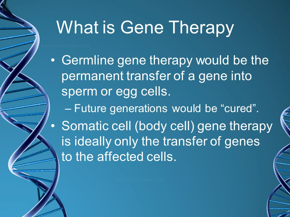 what is gene therapy pdf