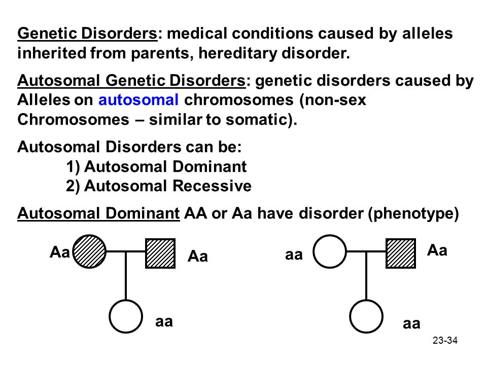 Genetic Disorders: medical conditions caused by alleles