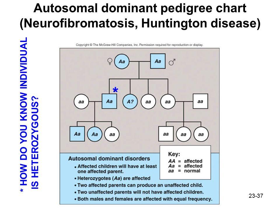 Autosomal dominant pedigree chart (Neurofibromatosis, Huntington disease)