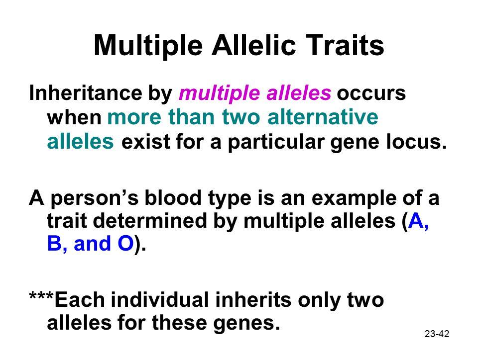 Multiple Allelic Traits