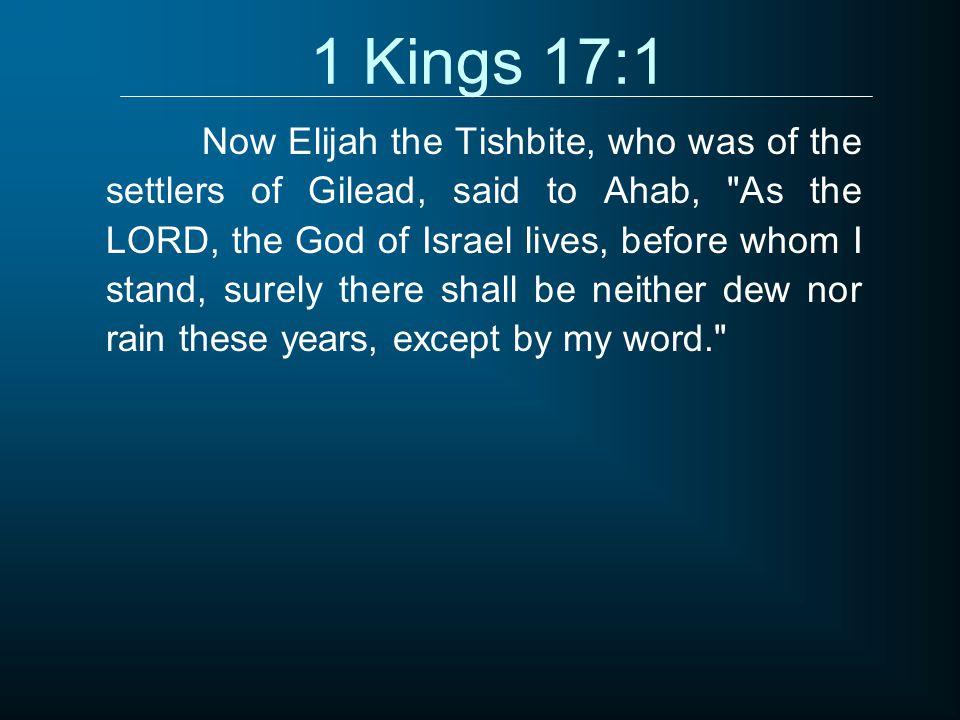 1 Kings 17:1