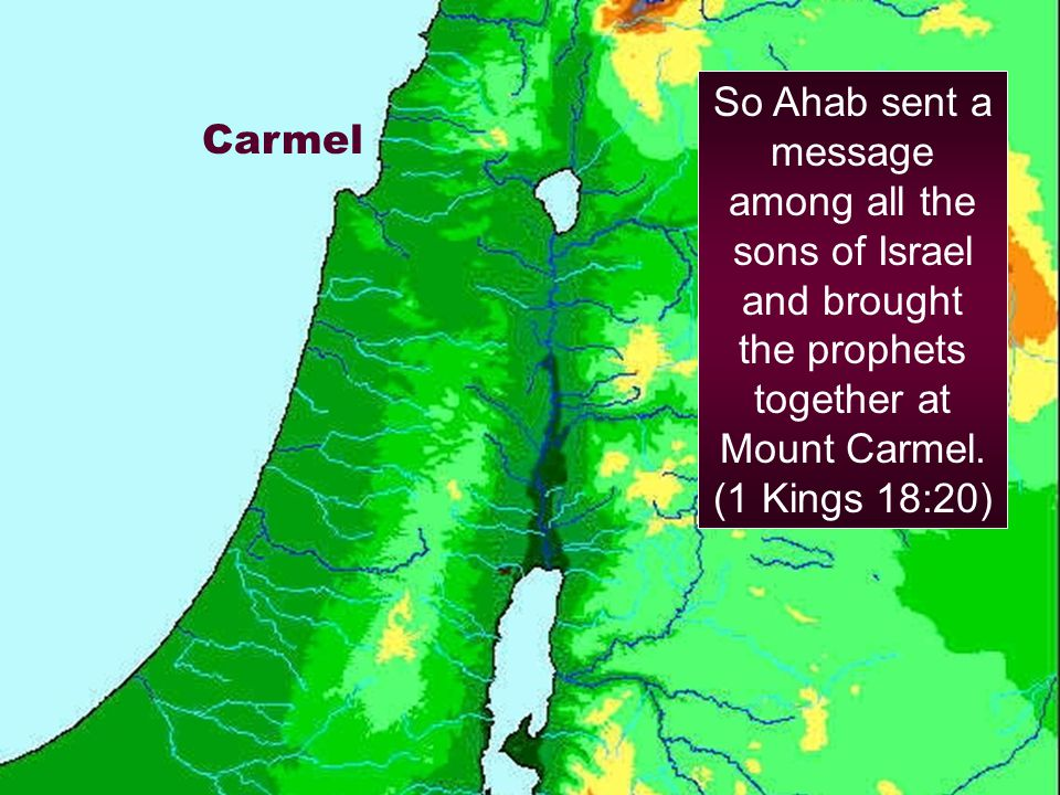 So Ahab sent a message among all the sons of Israel and brought the prophets together at Mount Carmel. (1 Kings 18:20)