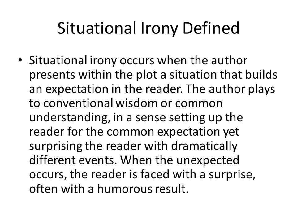 Situational Irony Defined