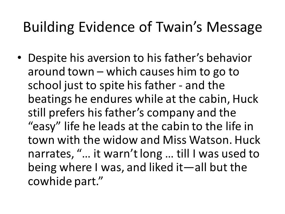 Building Evidence of Twain's Message