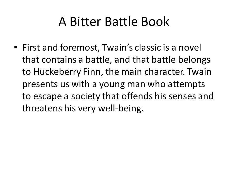 A Bitter Battle Book