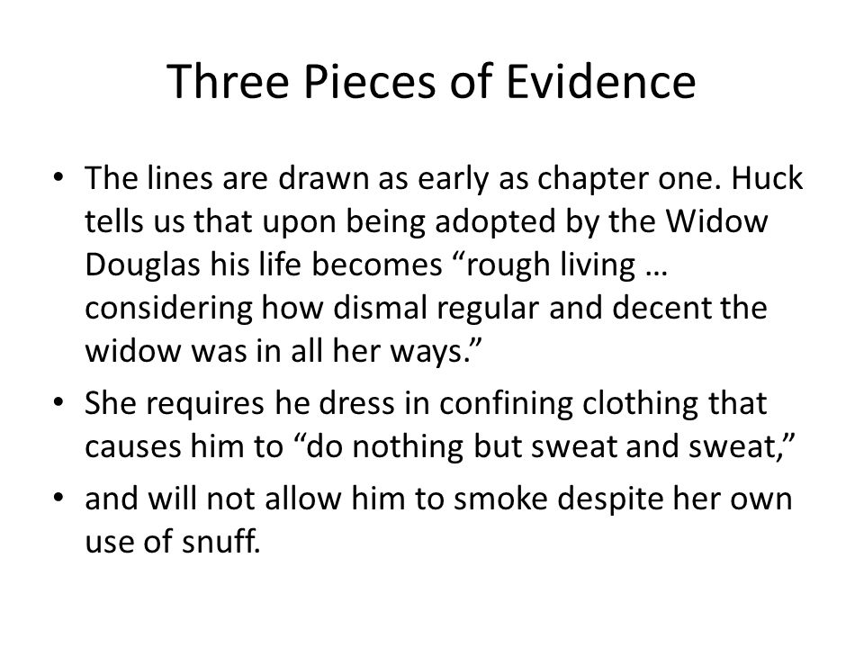 Three Pieces of Evidence