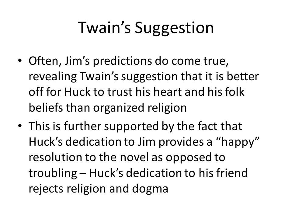 Twain's Suggestion