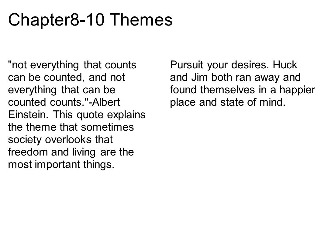 Chapter8-10 Themes
