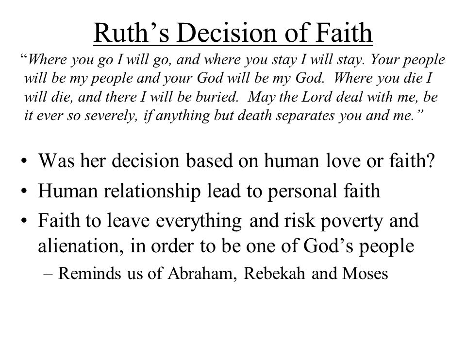 Ruth's Decision of Faith