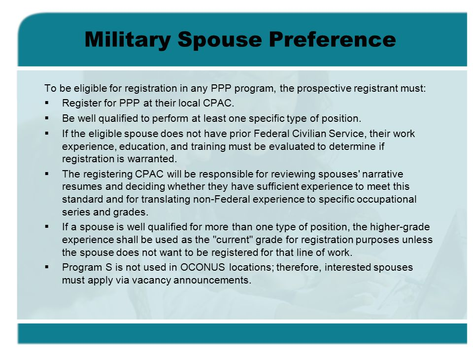 Military Spouse Preference