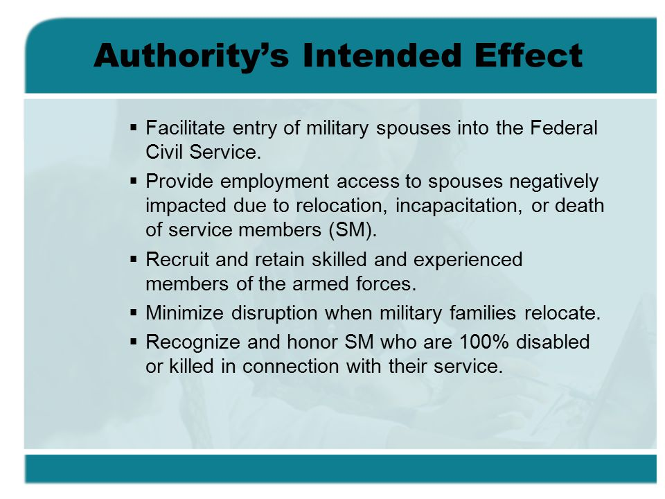 Authority's Intended Effect