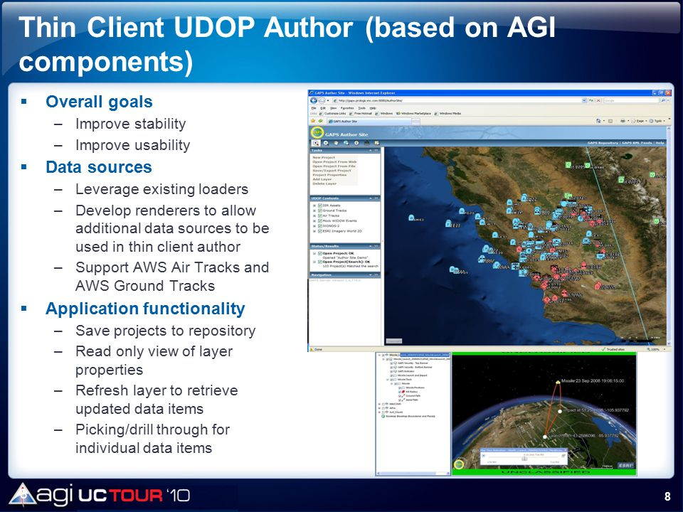 Thin Client UDOP Author (based on AGI components)