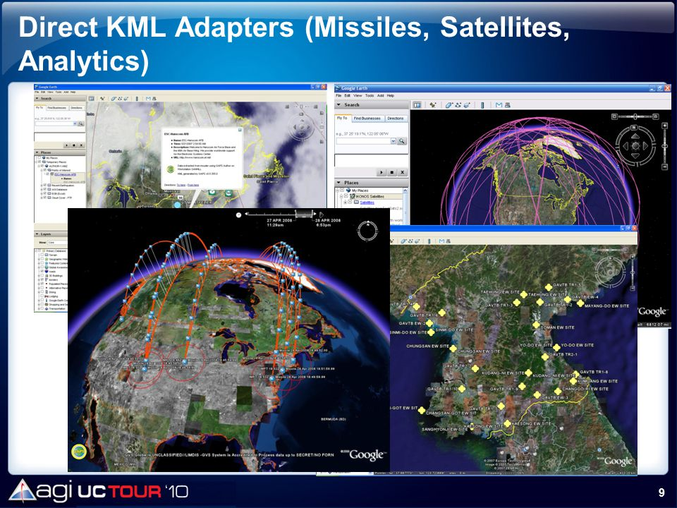 Direct KML Adapters (Missiles, Satellites, Analytics)