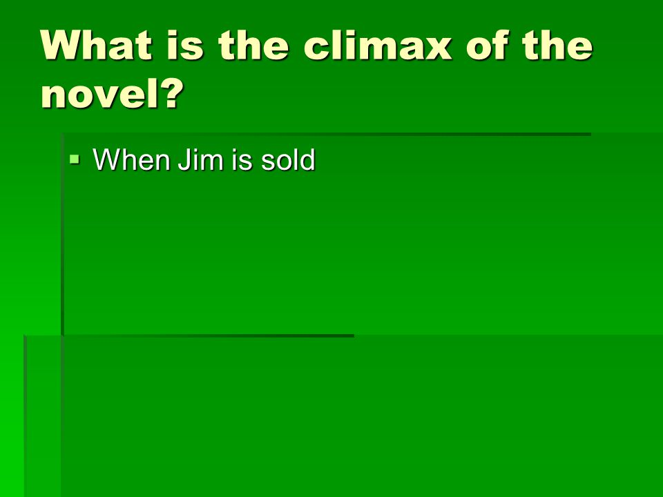 What is the climax of the novel