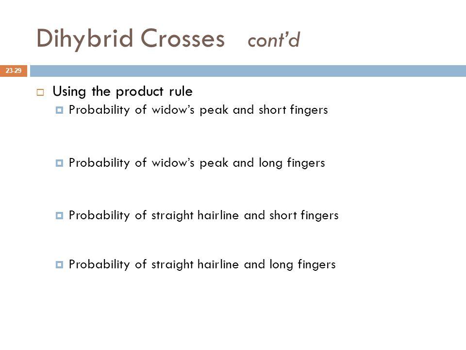 Dihybrid Crosses cont'd
