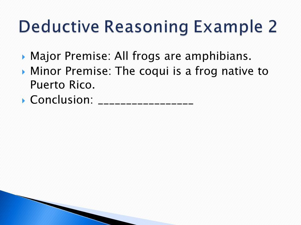 Deductive Reasoning Example 2