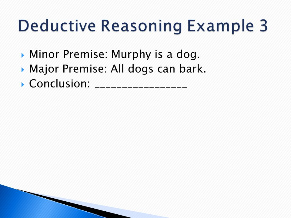 Deductive Reasoning Example 3