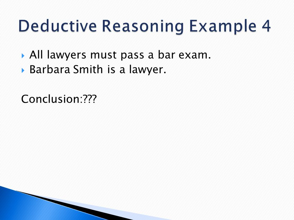 Deductive Reasoning Example 4