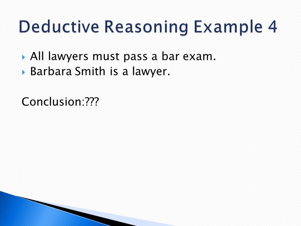 Deductive Reasoning Example 4