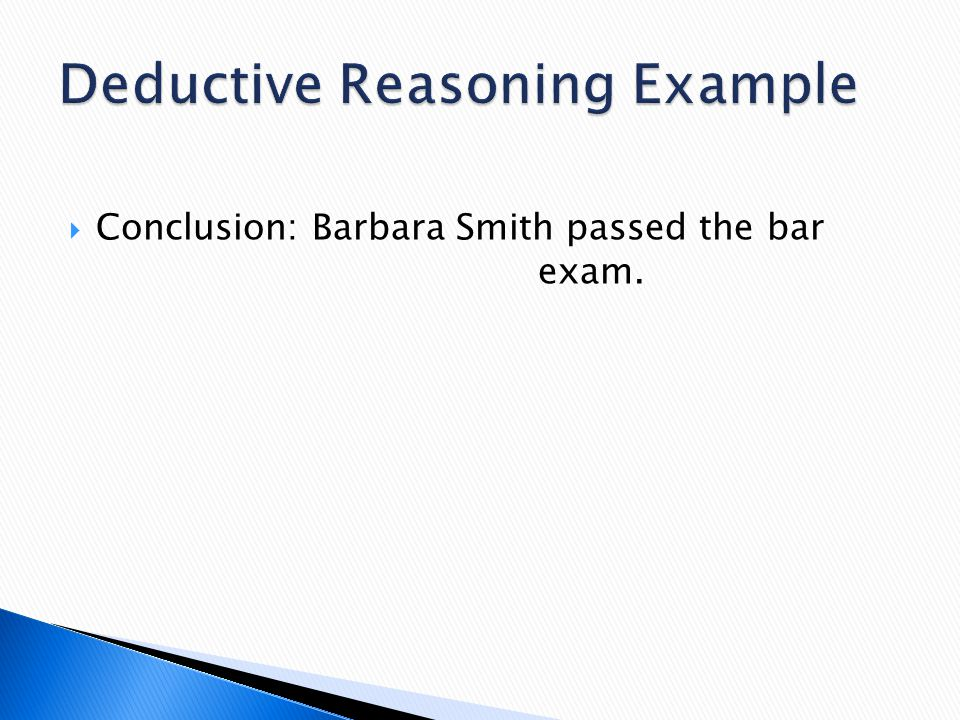 Deductive Reasoning Example