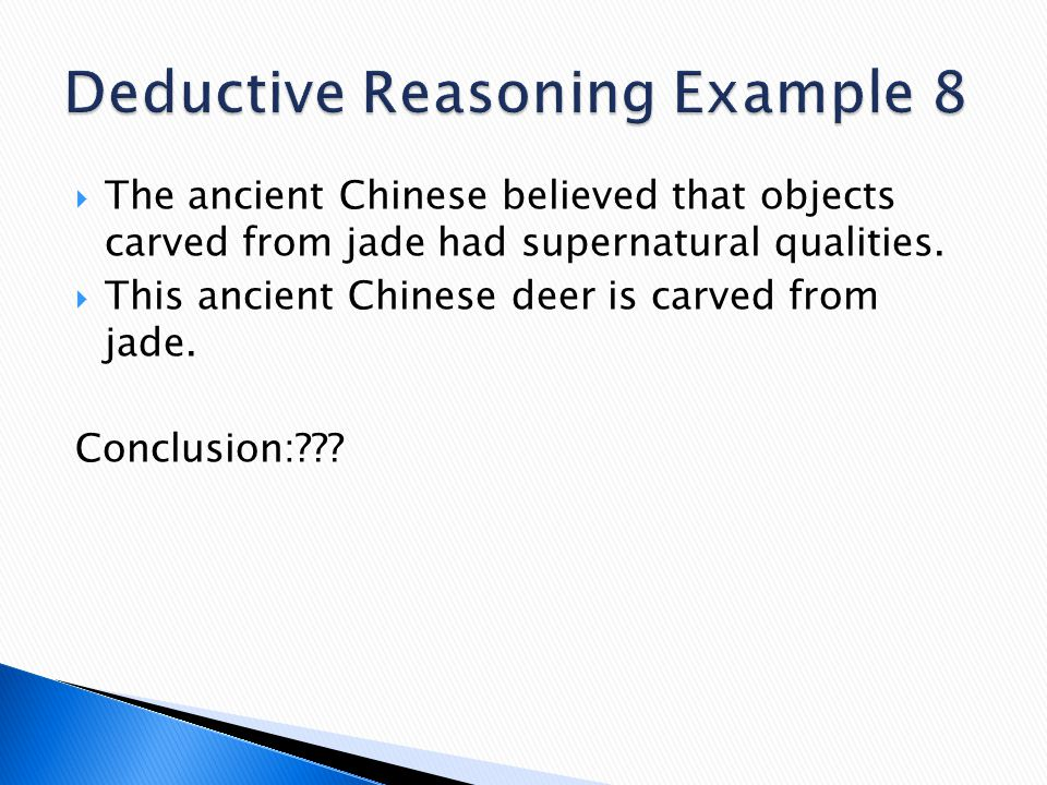 Deductive Reasoning Example 8