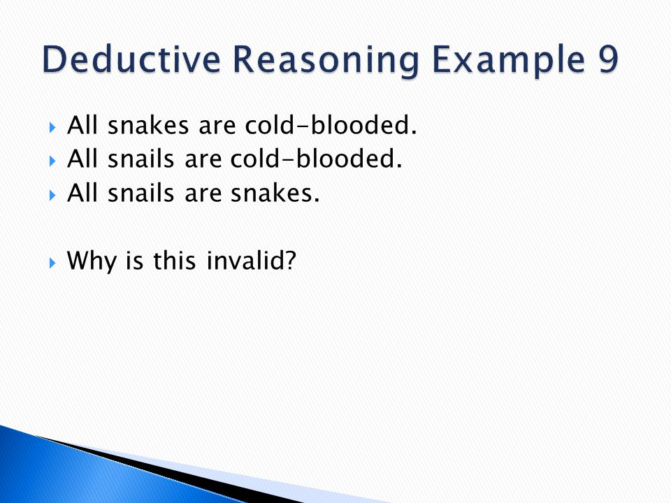 Deductive Reasoning Example 9