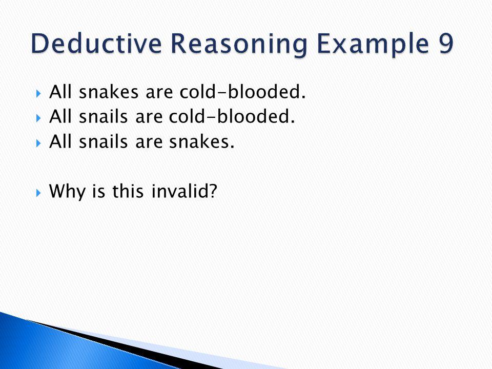 Deductive Reasoning Example 9