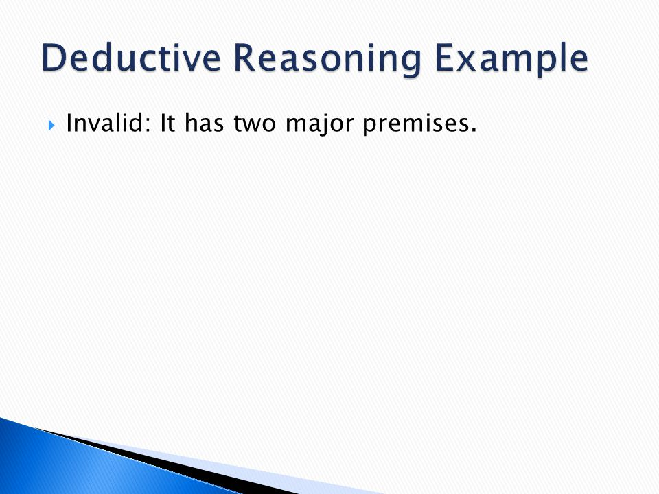 Deductive Reasoning Example