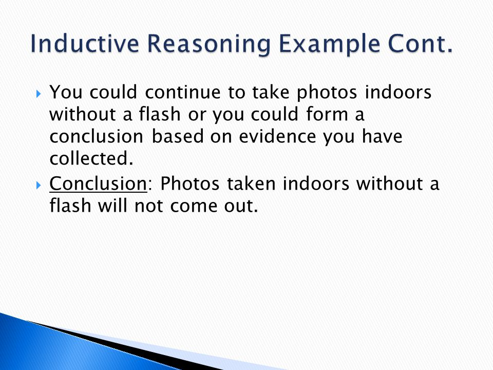 Inductive Reasoning Example Cont.