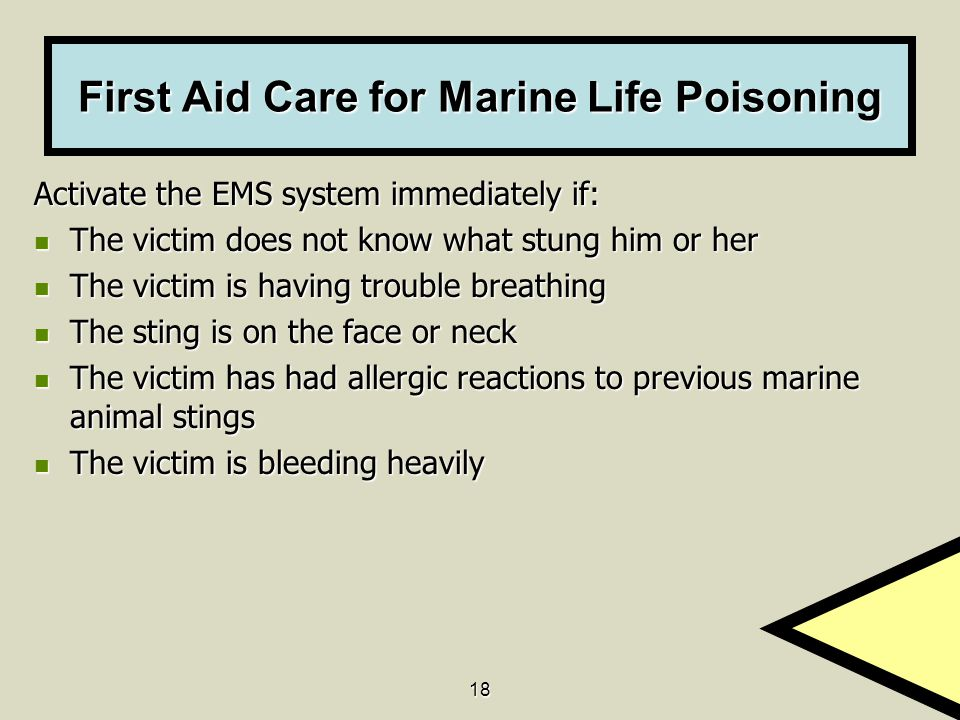 First Aid Care for Marine Life Poisoning