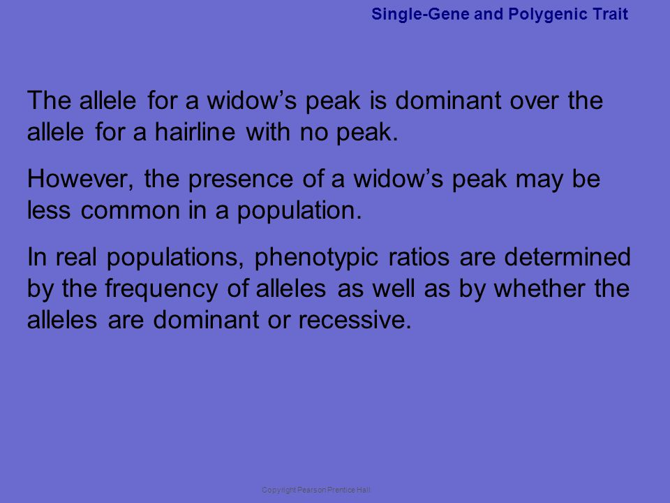 Single-Gene and Polygenic Trait