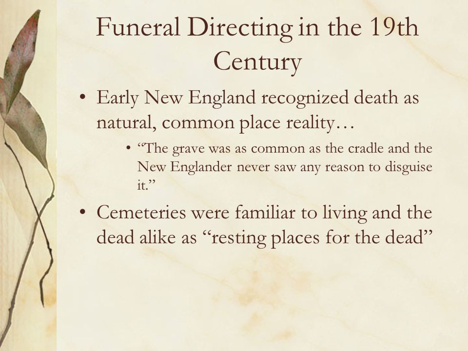 Funeral Directing in the 19th Century