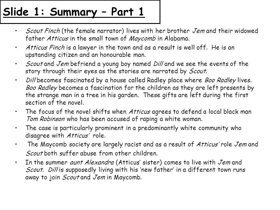 Slide 1: Summary – Part 1