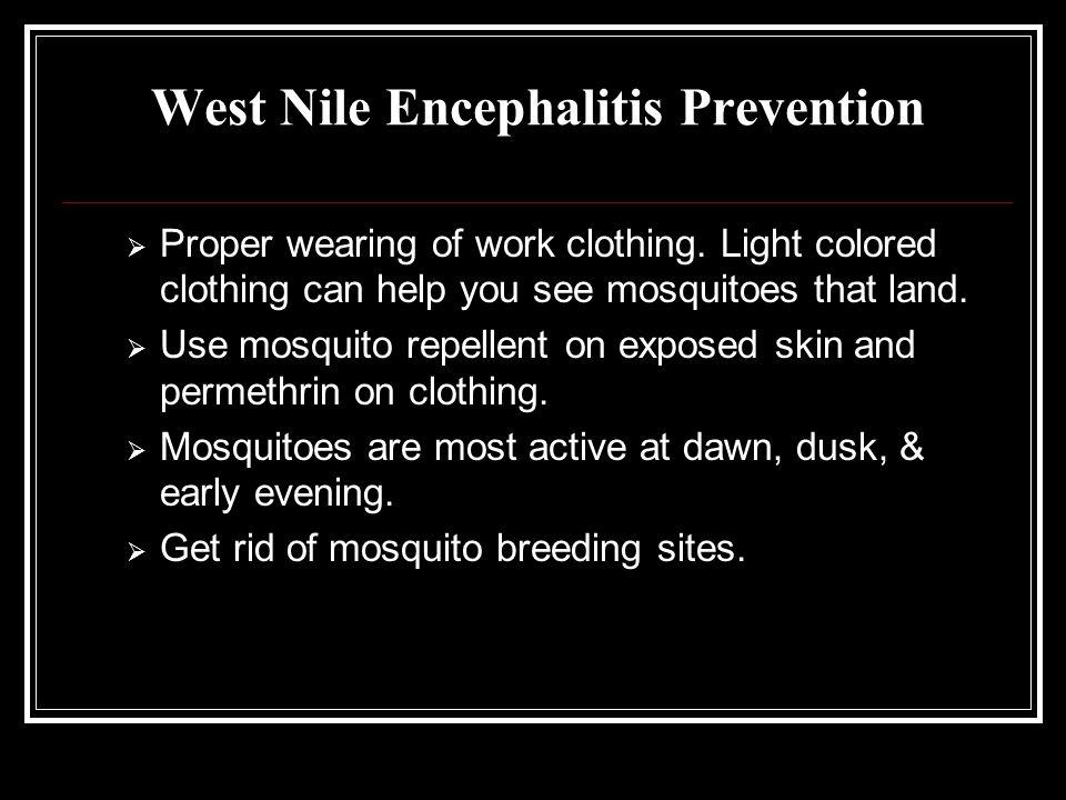 West Nile Encephalitis Prevention