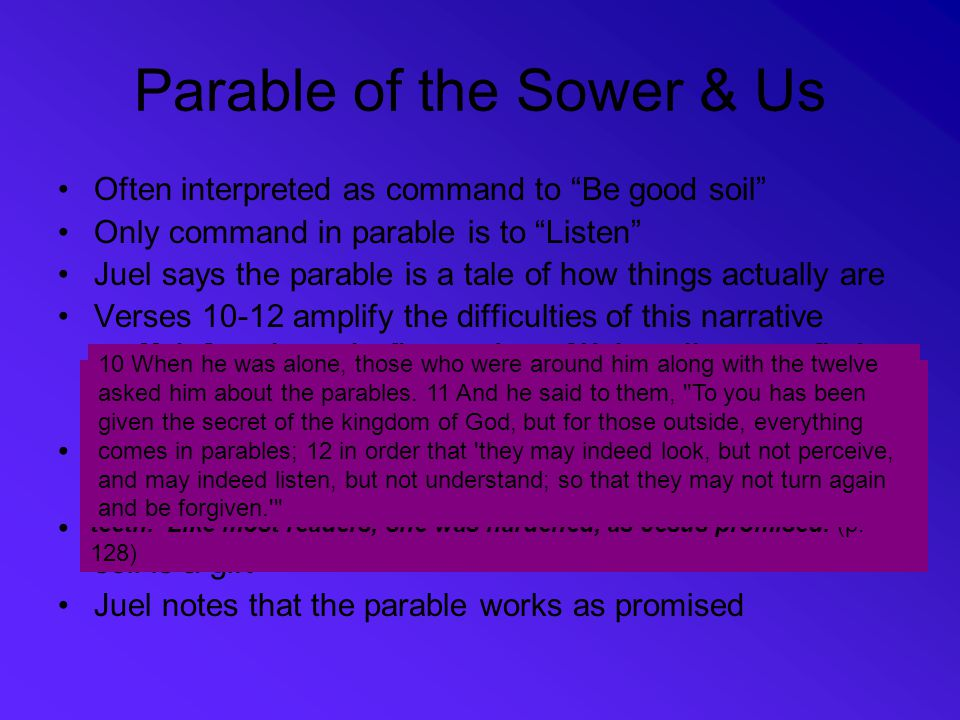 Parable of the Sower & Us