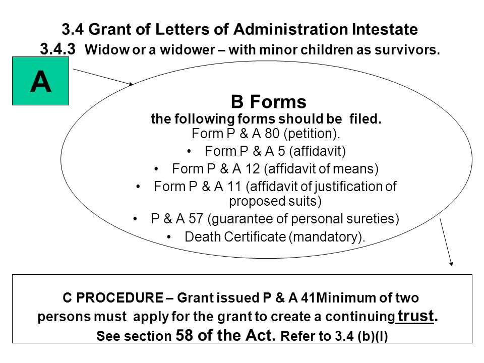 3. 4 Grant of Letters of Administration Intestate 3. 4
